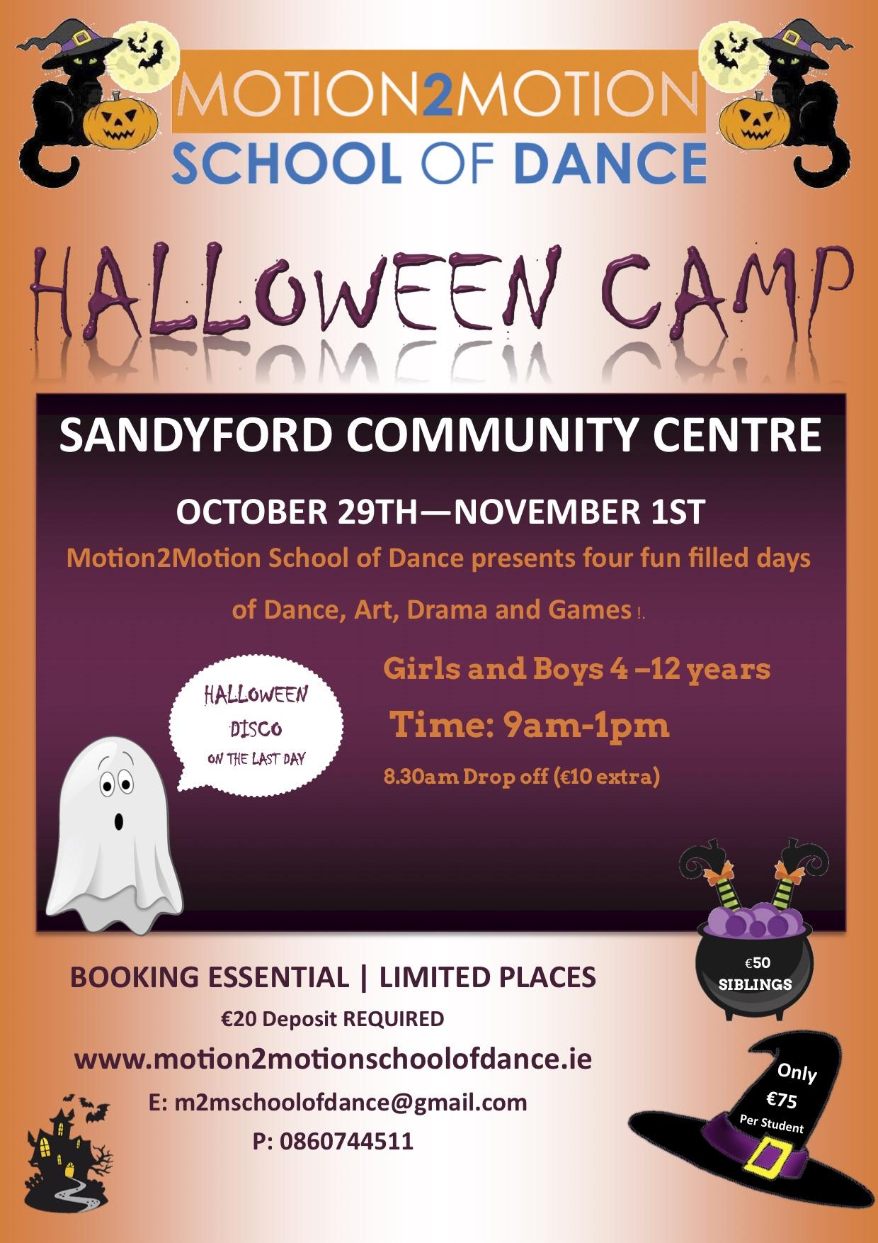 Halloween Camp Flyer 2019