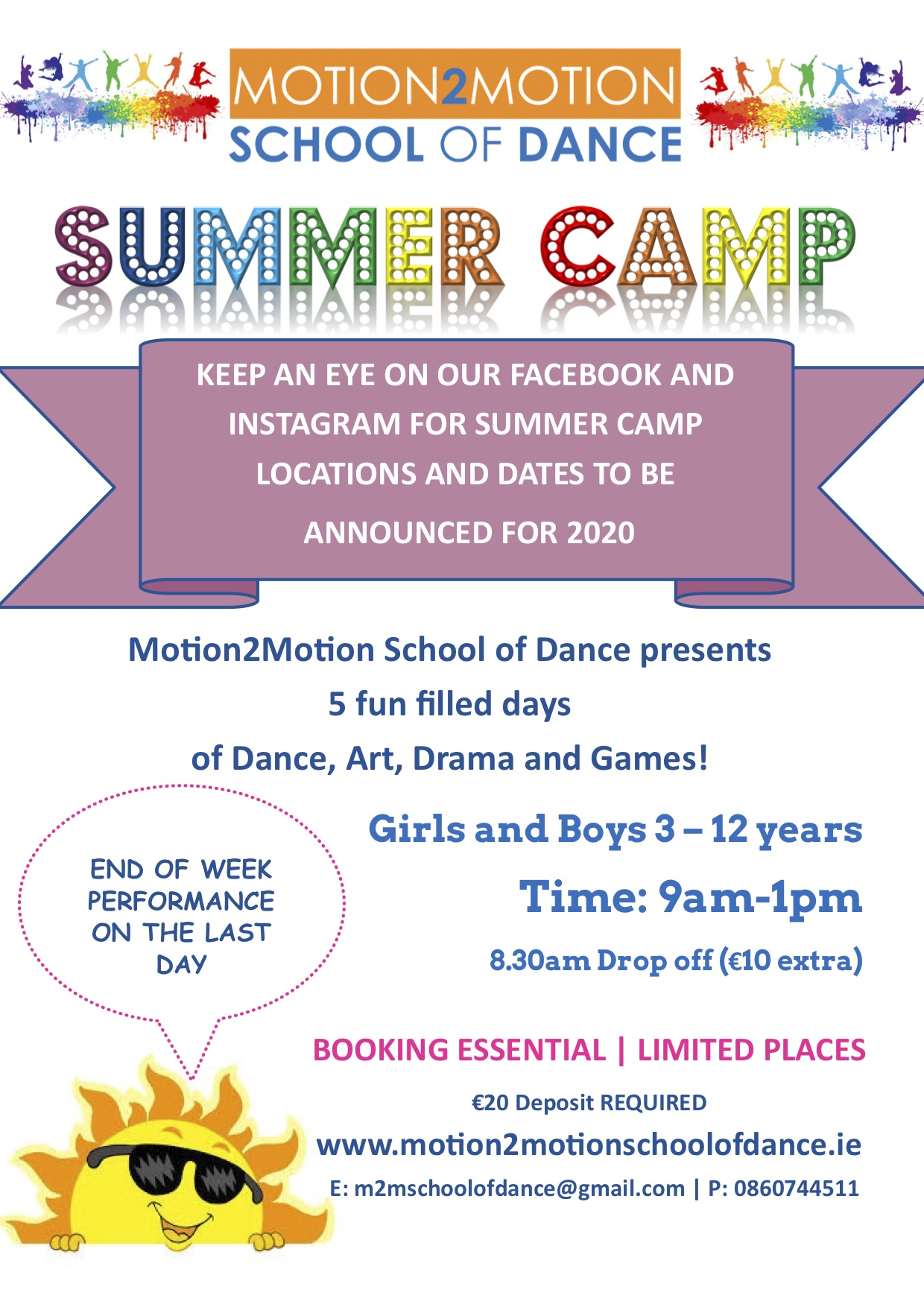 Summer camp flyer 2020