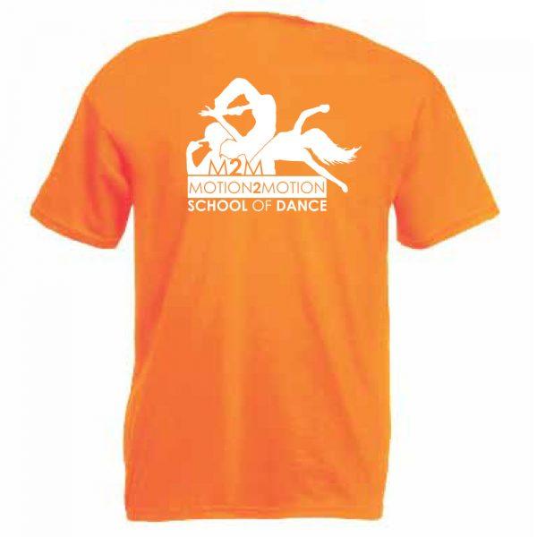 Motion2Motion Branded-T-Shirt-Orange-Back