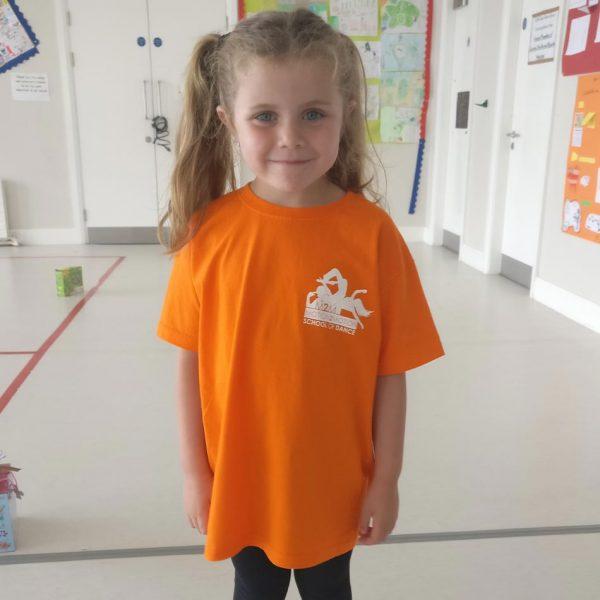 Motion2Motion Branded T-Shirt Orange Girl