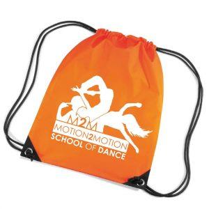 Motion2Motion Branded-pull-string-bag