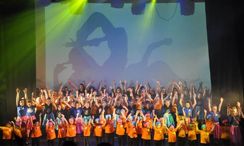 Classes registration dance students on stage